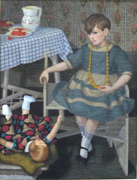 Felice Casorati - Bambina con Bambola