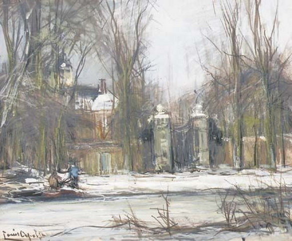 Louis Apol - A country road in winter