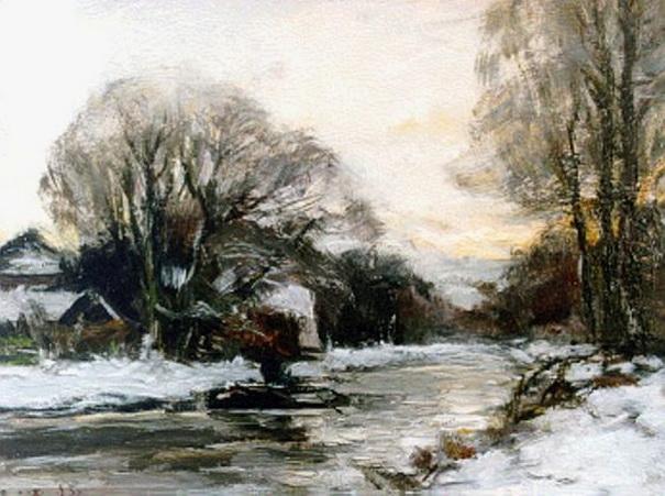 Louis Apol -  winterlandschap