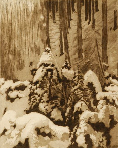 Leon Jan Wyczolkowski - Las zima
