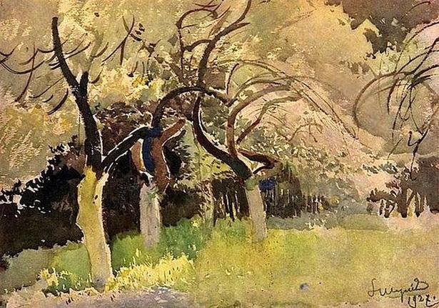 Leon Jan Wyczolkowski - Orchard in Ukraine