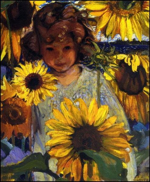 Frederick Varley -  Child's Portrait