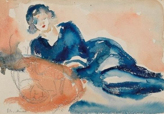 Edvard Munch -  Femme allongée