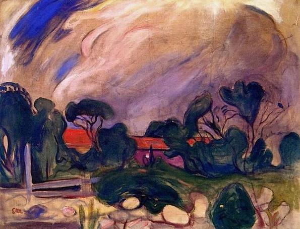 Edvard Munch  - Stormy Landscape