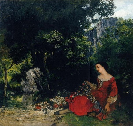 Gustave Courbet - Woman with Garland