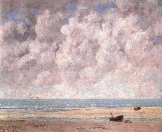 Gustave Courbet -  The Calm Sea