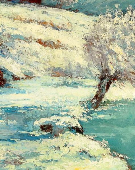Gustave Courbet - Effet de Neige