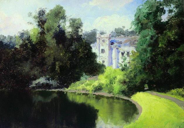 Vasiliy Polenov - Пруд в парке. Ольшанка