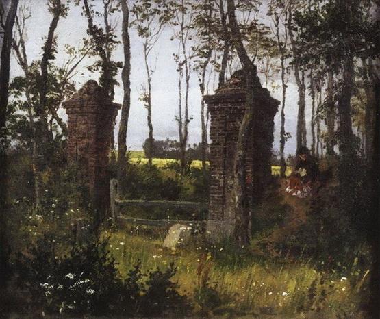 Vasiliy Polenov - Старые ворота. Вель.