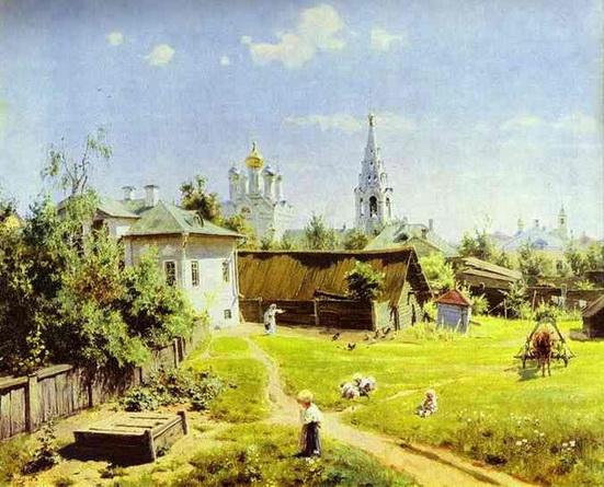 Vasiliy Polenov - Moscow Backyard