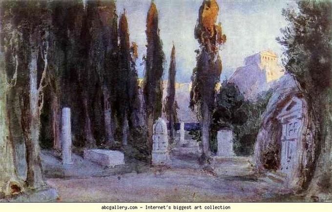 Vasiliy Polenov - Кладбище среди кипарисов