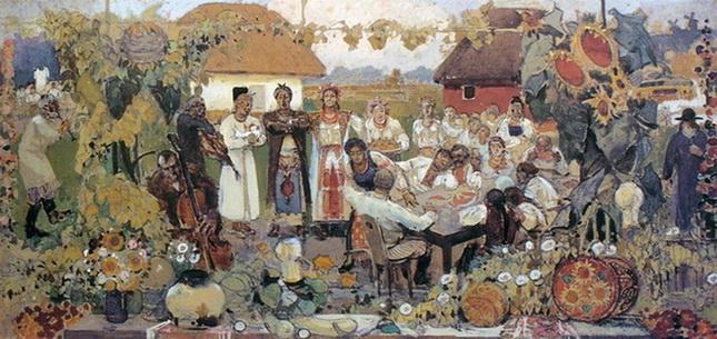 Иван Мясоедов -  Праздник в украинском селе