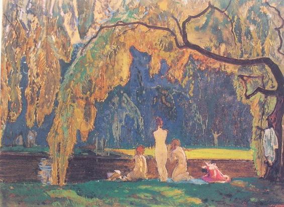 Иван Мясоедов -  Парк в Берлине