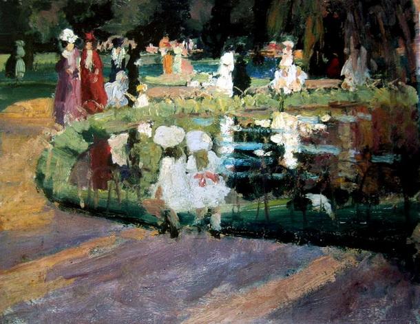 Ethel Carrick Fox - Luxembourg Gardens 2