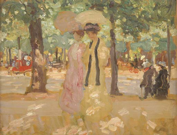 Ethel Carrick Fox - Autumn In Paris -