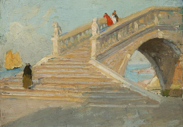 E Phillips Fox. -  Bridge Over Riva