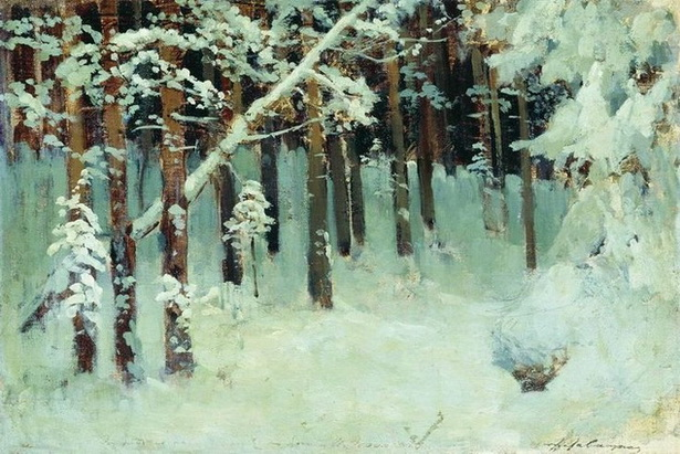 Levitan -   Forest in the winter