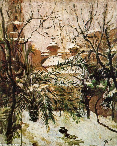 Ignacio Pinazo Camarlench - Snow on Valencia