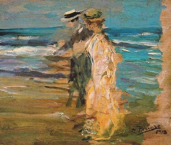 Ignacio Pinazo Camarlench - On the Seashore