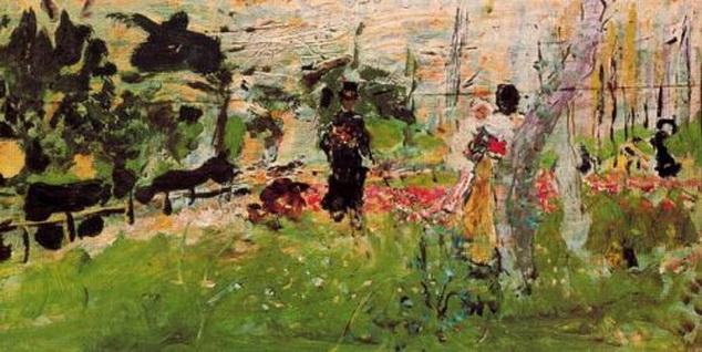 Ignacio Pinazo Camarlench - Garden with Figures