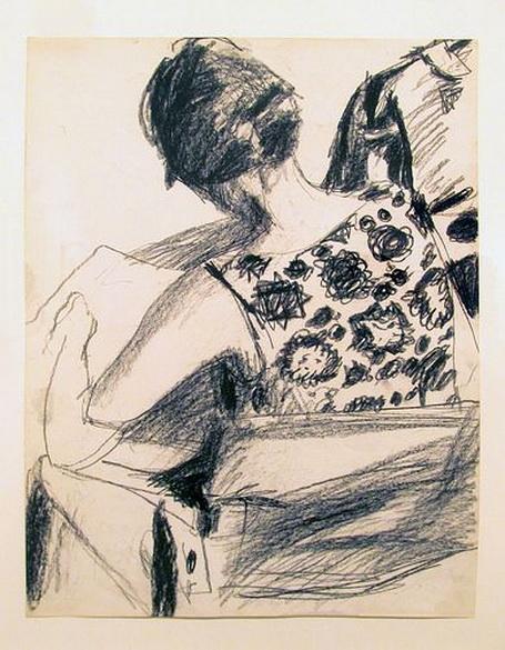 Richard Diebenkorn - charcoal on paper