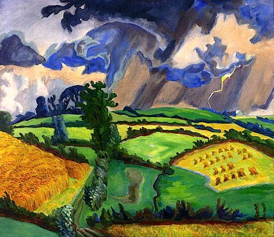 Erich Heckel -  Landschaft im Gewitter
