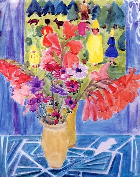 Erich Heckel - Bouquet,