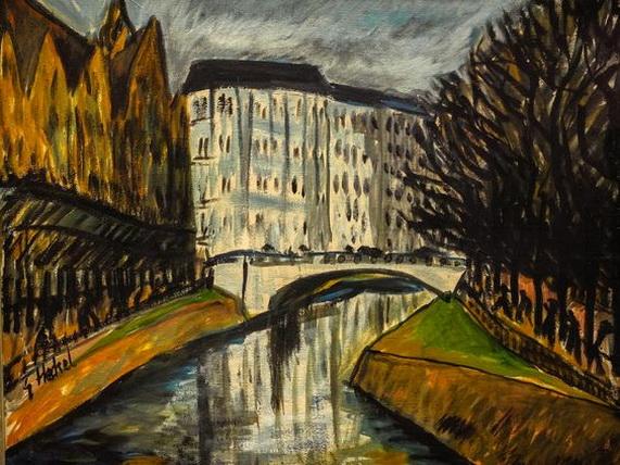 Erich Heckel - Kanal in Berlin
