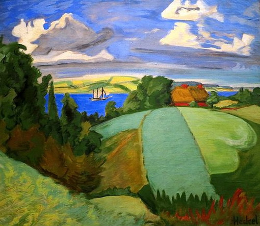 Erich Heckel - Landscape in Schleswig