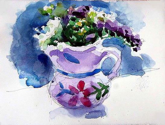 Charles Sovek - Flowers in Bowl