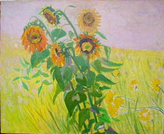 Frederik Beldrich Serger - Sunflowers