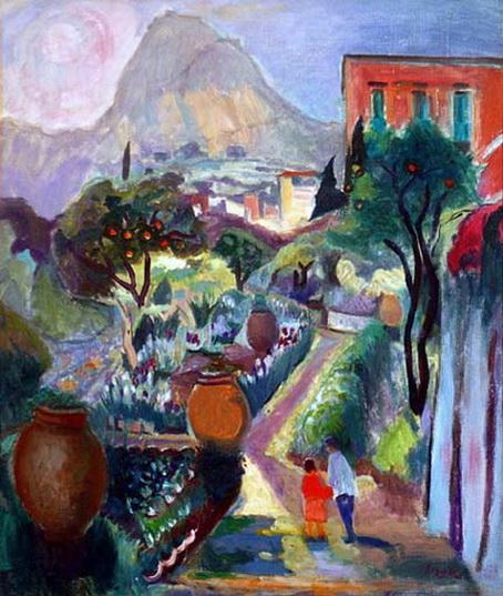 Frederik Beldrich Serger - garden path, france
