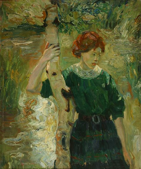 Janos Vaszary - Girl under the tree