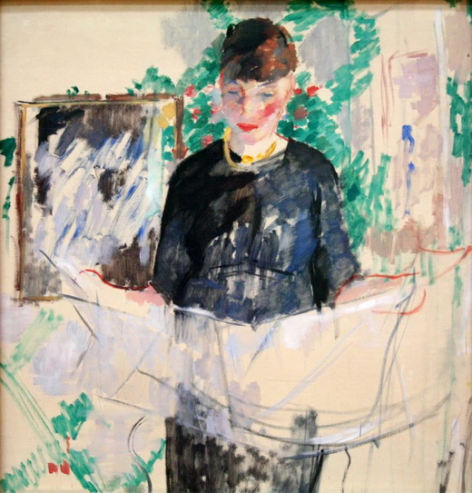 Rik Wouters - Woman in black reading the newspaper