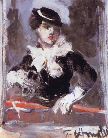 Vassyl Khmeluk - Портрет молодої жінки в капелюшку