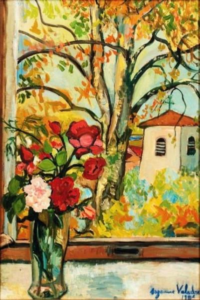 Suzanne Valadon - Bouquet de fleurs devant