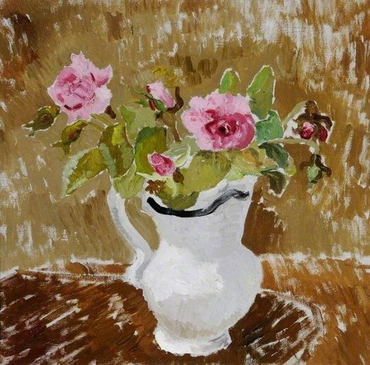 Christopher Wood -  Roses in a White Jug