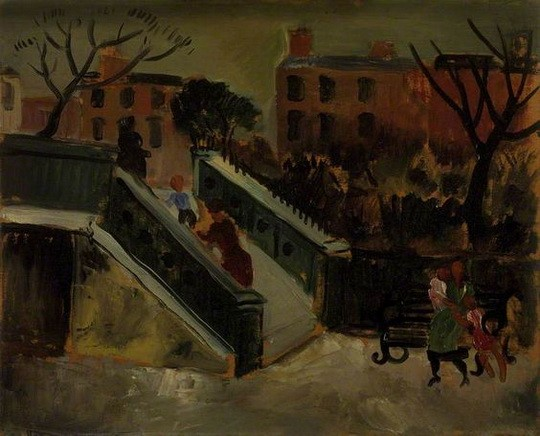 Christopher Wood -  The Steps, Chelsea