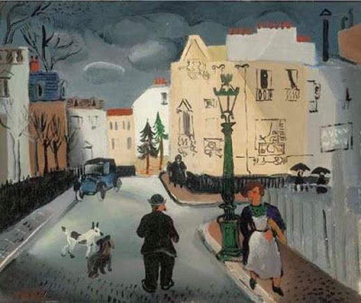 Christopher Wood -  Street in Paris