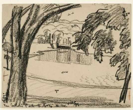 Oscar Bluemner -   View in Van Cortlandt Park, Bronx, New York