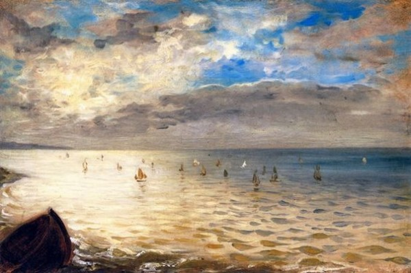 Eugene Delacroix -  Sea Viewed from the Heights of Dieppe