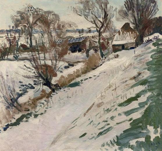 Jan Altink -  A Farmhouse in Winter.