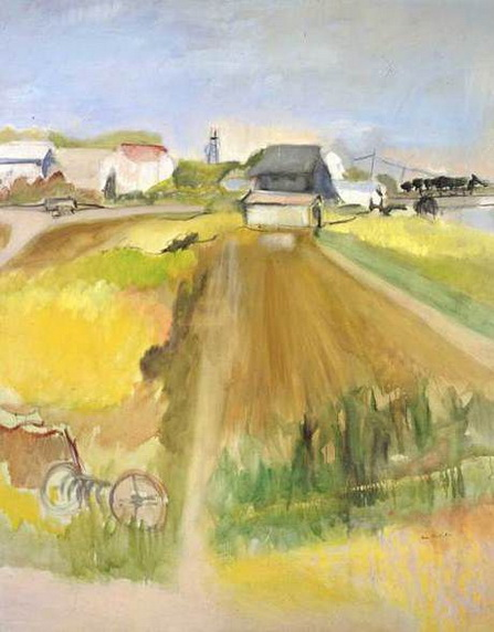 Jane Freilicher -  Farm Scene
