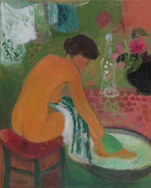 Nancy Delouis - The striped towel
