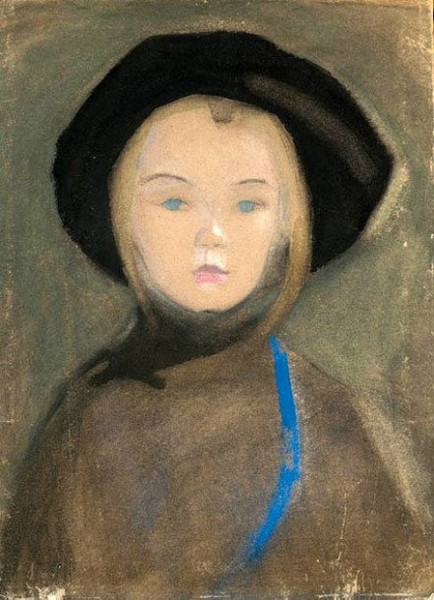 Helene Schjerfbeck- Girl With Blue Ribbon