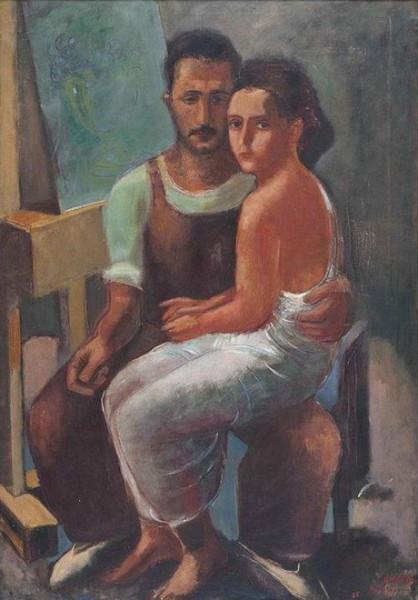 Nahum Gutman -  Dora and Nahum