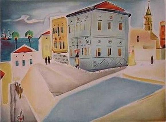 Nahum Gutman - House in Jaffa