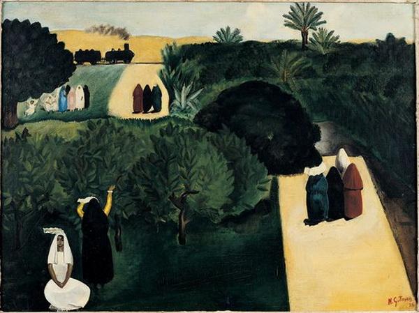 Nahum Gutman - Jaffa's Orchards