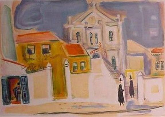 Nahum Gutman - Rokach Synagogue