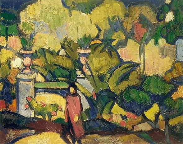 Anne Estelle Rice - The Hotel Garden